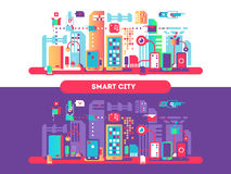 Smart city concept Royalty Free Stock Images