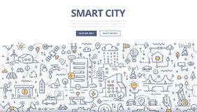 Free Smart City Doodle Concept Stock Photography - 90549522