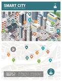 Smart city infographic royalty free illustration