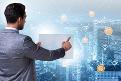 The smart city in innovation concept royalty free stock photography