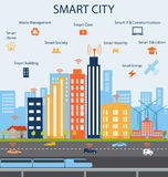 Smart City and Internet of things concept Stock Photos