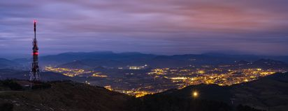 Smart city and internet of things, wireless communication network. San Sebastian, Basque Country stock image