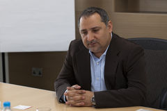 Smart City Malta CEO. SMART CITY, MALTA - 6 JUN - Smart City Malta CEO Fareed Abdulrahman during an interview at Smart City Malta Stock Images