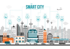Smart city Stock Photography