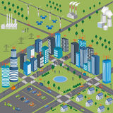 Smart city Smart Grid and Wireless network of vehicle Royalty Free Stock Photography