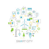 Smart city vector concept. Royalty Free Stock Images