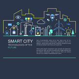 Smart city vector concept. Stock Images