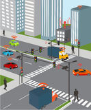 Smart city and Wireless network of vehicle Royalty Free Stock Image