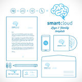 Smart Cloud Logo and Identity Template Royalty Free Stock Photos