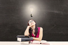 Smart college student 1 royalty free stock photos