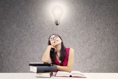 Smart college student Stock Photo