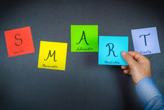 SMART - colorful notes Royalty Free Stock Images