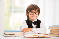 Smart and confident schoolboy. Royalty Free Stock Photo