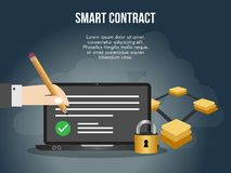 Smart contract concept illustration vector design template royalty free illustration