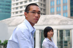 Smart Corporate Executive Couple Royalty Free Stock Photos