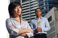 Smart Corporate Executive Couple Stock Image