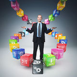 Smart cubes Stock Photography
