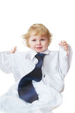 Smart cute baby boy Stock Image
