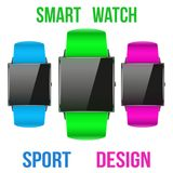 Smart design example sport wrist watch. Stock Photography