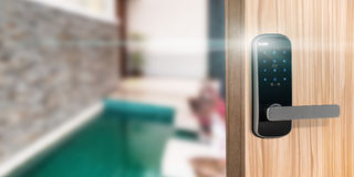 Smart digital door lock security Royalty Free Stock Photos