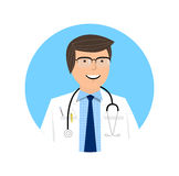 Smart doctor character design. Doctor icon and healthcare concept - vector illustration. Royalty Free Stock Image