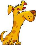 Smart Dog. A very smart dog line art cartoon stock illustration