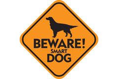 Smart Dog. Sign of Smart Dog vector illustration
