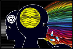 Smart Drugs for Kids. Cognition enhancing drugs boosting intelligence and brainpower in early childhood education Stock Images
