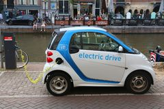 Smart electric car Royalty Free Stock Photography