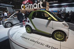 Smart electric drive car at the 2010 CIAA Royalty Free Stock Images