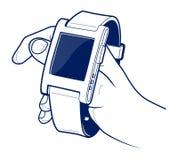 Smart electronic wrist watches Stock Photos