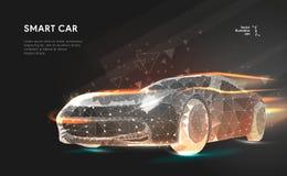 Smart eller intelligent bil vektor illustrationer