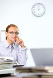 Smart employee Royalty Free Stock Photography