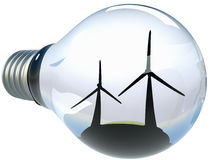 Smart energibegrepp för alternativ Royaltyfri Foto