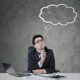 Smart entrepreneur with cloud tag Stock Images