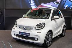 Smart EQ fortwo cabrio, electric vehicle EV produced by Mercedes-Benz royalty free stock images