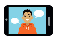 Smart för videokommunikation telefon vektor illustrationer
