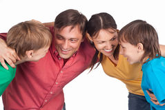Smart family portrait Royalty Free Stock Images