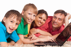 Smart family portrait Royalty Free Stock Photo