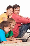 Smart family portrait Stock Photo
