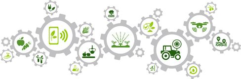 Free Smart Farm / Agriculture Technology / Agritech Icon Concept – Vector Illustration Royalty Free Stock Photo - 163553695