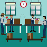 Smart Farm Concept,online purchase,packing before delivery - Vec. Tor Illustration Stock Photos