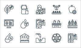 Free Smart Farm Line Icons. Linear Set. Quality Vector Line Set Such As Temperature, Seed, Humidity, Drone, House, Smart Farm, Conveyor Royalty Free Stock Photo - 192544375