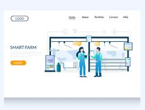 Free Smart Farm Vector Website Landing Page Design Template Royalty Free Stock Image - 164131666