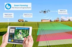 Smart farming 4.0 , Hi-Tech Agriculture conceptual, stock images
