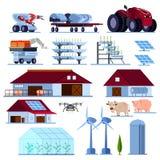 Smart Farming Orthogonal Flat Set Royalty Free Stock Image