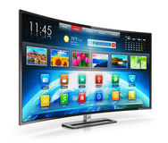 Smart Fernsehapparat Lizenzfreie Stockfotografie