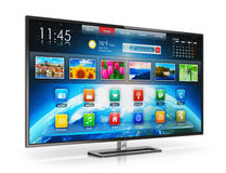 Smart Fernsehapparat Stockfoto