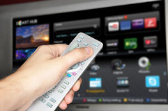 Smart Fernsehapparat Lizenzfreie Stockfotos