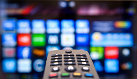 Smart Fernsehapparat Stockfoto